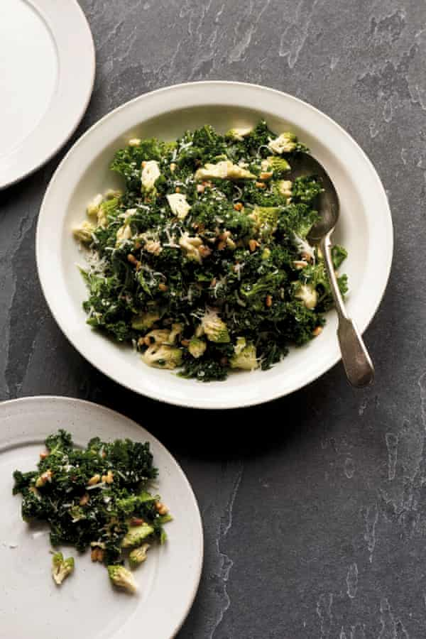 Kale, romanesco, parmesan and pine nut salad.
