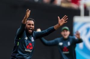 England's Adil Rashid.
