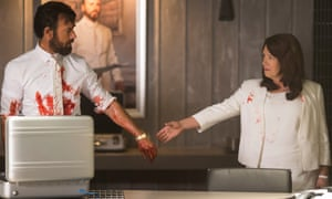 Justin Theroux and Ann Dowd as Patti Levin in The Leftovers