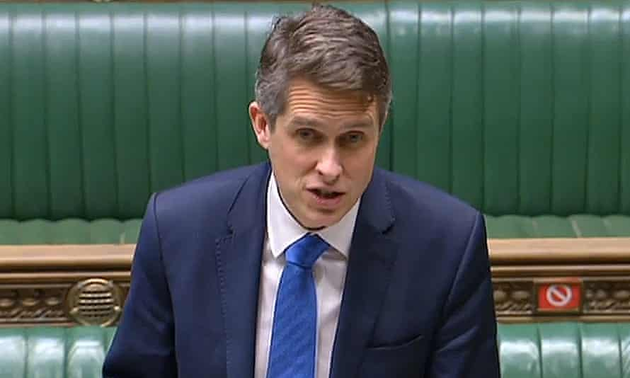Gavin Williamson in the House of Commons on Wednesday.