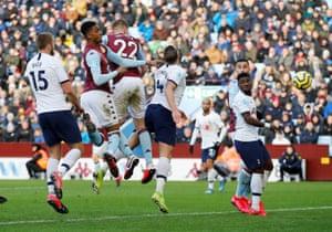 Engels scores the second equaliser for Villa.