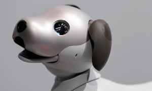 Sony's robot ''aibo'' on display during a news conference at the company's headquarters on November 1, 2017, Tokyo, Japan.  Credit: Rodrigo Reyes Marin/AFLO/Alamy Live News