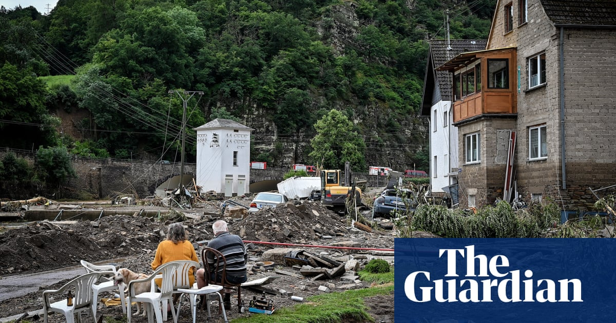 'It went so fast': villagers describe destruction as flooding hits western Germany – video