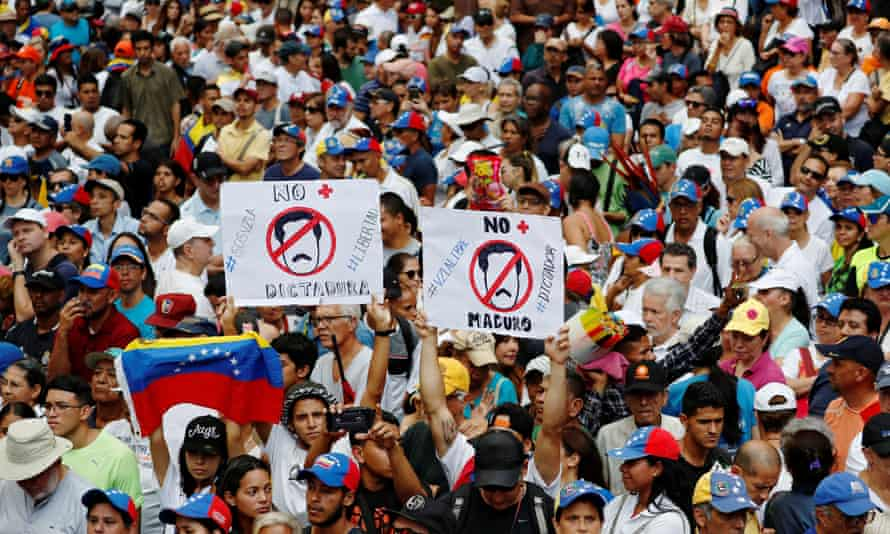Thousands of anti-Maduro protesters took to the streets on Saturday.