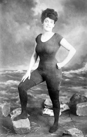 Australian swimmer Annette Kellerman was arrested in 1907 for wearing a sleeveless swimming outfit, seen to be so revealing that it was obscene
