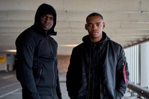 Rapman, AKA Andrew Onwubolu, with actor star Joivan Wade.
