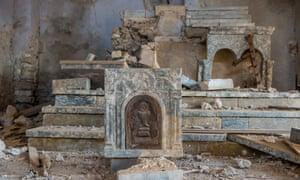 Ruins of Christian church in Sinjar