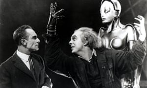 Alfred Abel, left, as Fredersen and Rudolph Klein-Rogge as Rotwang the inventor, in Metropolis.
