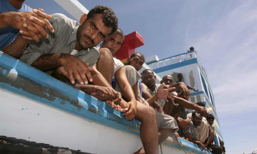 Somali marine forces detain Iranian fishermen in the waters off Puntland in north-eastern Somalia.