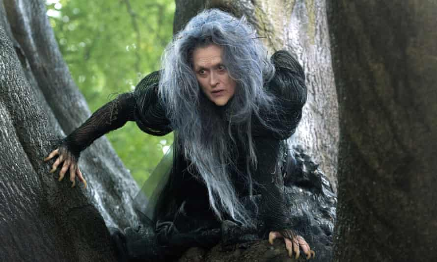 Meryl Streep as a witch in Into The Woods