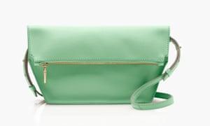 Pastel green cross-body bag