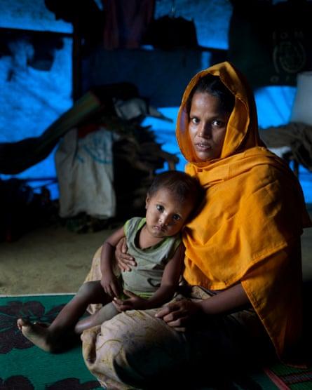 Rashida with her son Nurul.