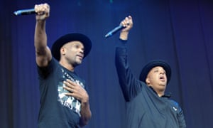 "Daryl ""DMC"" McDaniels and Reverend ""Run"" Joseph Simmons of Run DMC perform during the 2014 Music Midtown Festival"