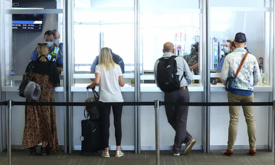 Passengers have their G2G pass verified by WA Police