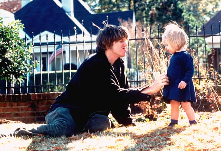 Thurston Moore and daughter Coco in 1995.