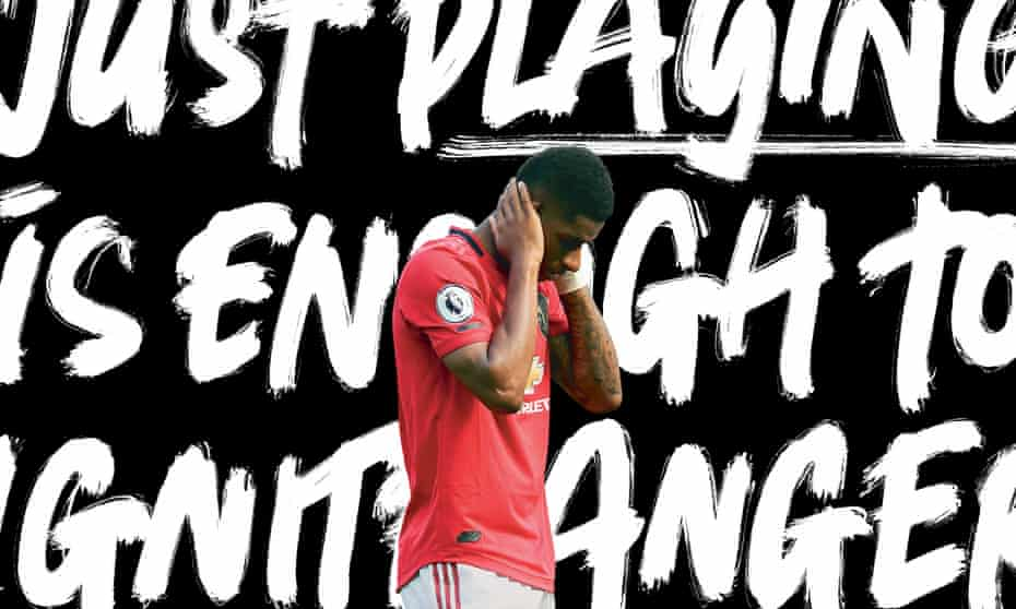 'Things have been going backwards rather than forwards': Marcus Rashford of Manchester United was subjected to repeated racist abuse on Twitter after he missed a penalty against Crystal Palace at Old Trafford