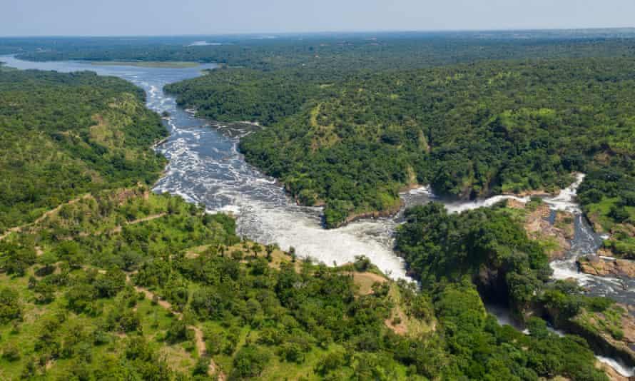 The Nile River in Uganda between lakes Kyoga and Albert
