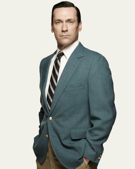 Clean cut: Jon Hamm as Don Draper in Mad Men.