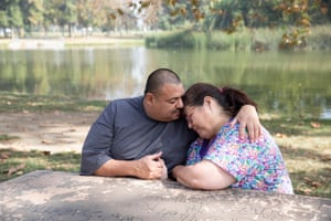 Ruben Martinez and his wife Maria in Los Angeles. Ruben was recently exonerated of all crimes.