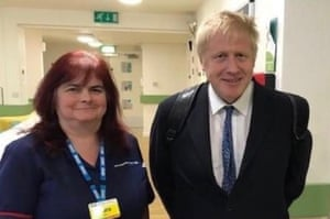 Sara Dee Trollope, 51, with Prime Minister Boris Johnson.