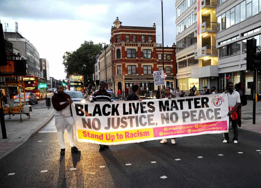 A Black Lives Matter rally in London, earlier this month.