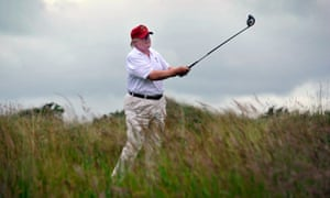 Donald Trump at his Aberdeenshire club in 2012.