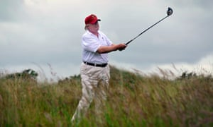 Donald Trump is a regular visitor to the golf course
