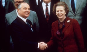 Mikhail Gorbachev and Margaret Thatcher, 1984.