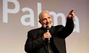 The life of Brian... De Palma collecting his Glory to the Filmmaker award in Venice.