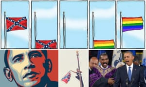 confederate flag rainbow flag