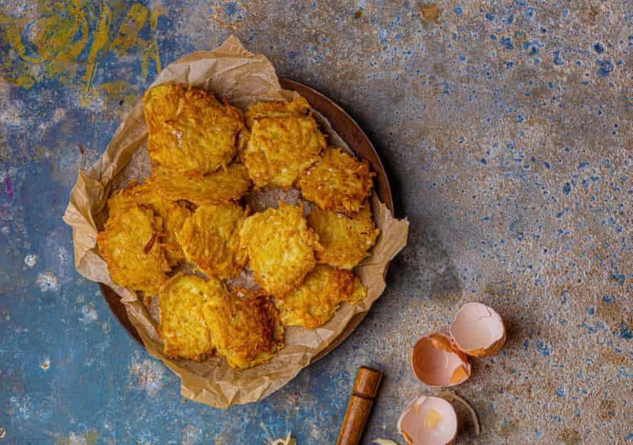 Claudia Roden's potato latkes.