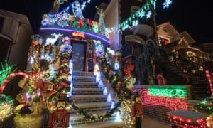 Houses in Brooklyn are lit up for the holidays – which may not be as universally difficult as some say.