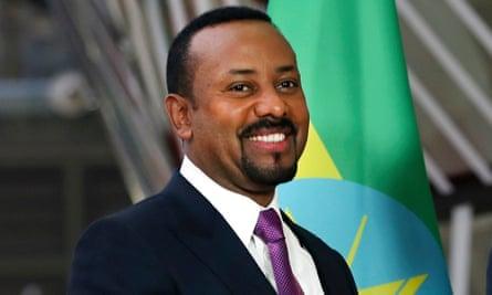 Ethiopian prime minister and Nobel winner Abiy Ahmed.