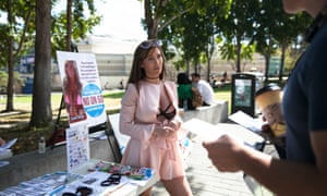 Tasha Reign talks to UC San Diego students about Proposition 60, which would require adult entertainers to wear condoms during sex scenes.