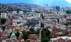The old and the new Sarajevo.