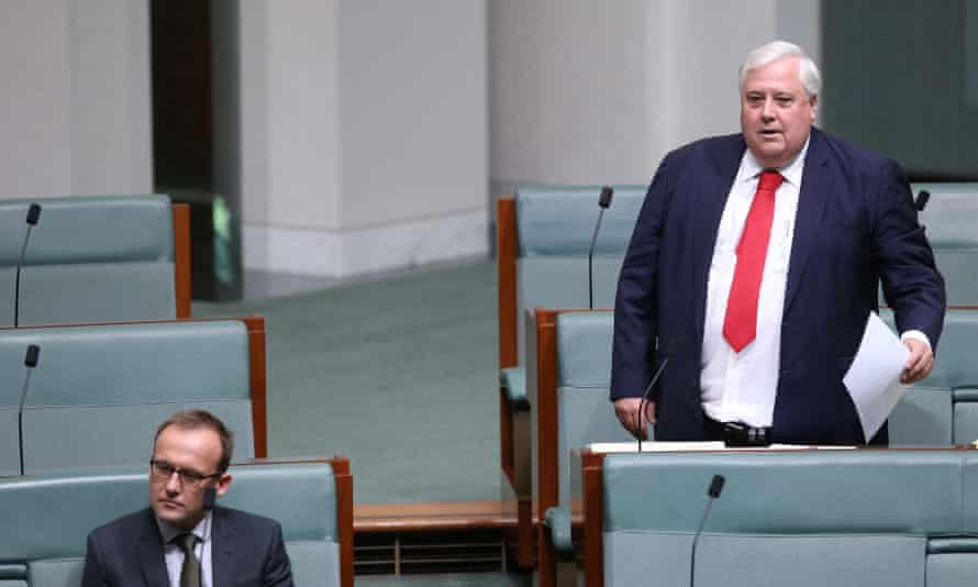 Clive Palmer in the House of Representatives on Tuesday.