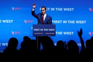 Julian Castro appears on stage at a First in the West Event in Las Vegas, Nevada.