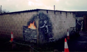 The Port Talbot artwork, believed to be by Banksy.
