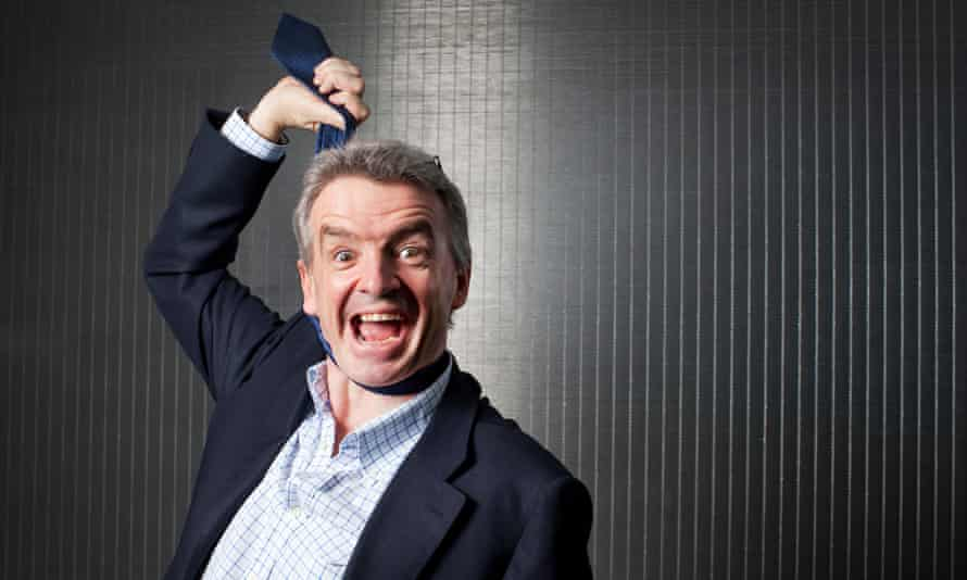 Michael O'Leary in a trademark publicity pose.