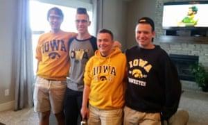 Sean Finn with fraternity friends.