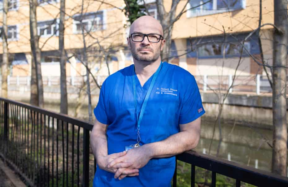 Dr Richard Breeze, head of ICU at University Hospital Lewisham