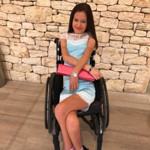 Gemma Quinn was travelling from Manchester to Dubai when part of her wheelchair was lost.