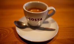 A Costa espresso cup