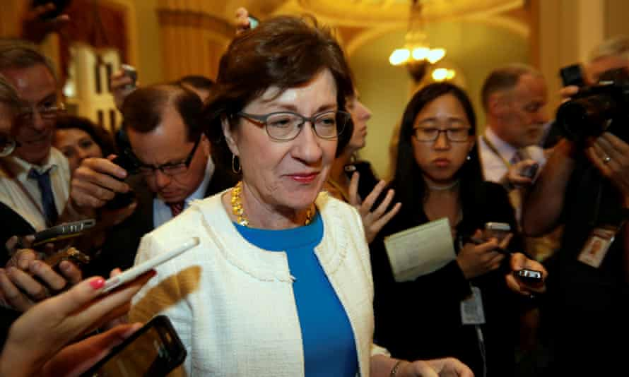 Susan Collins of Maine has broken with the party on the environment, gun control and same-sex marriage.