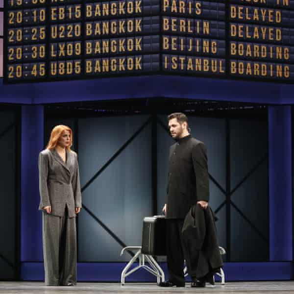 Anastasia Stotskaya and Alexander Sukhanov perform during the open rehearsal.