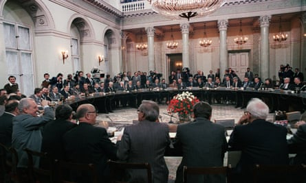 General view of the round table talks in Warsaw, Poland on 6 February 1989.