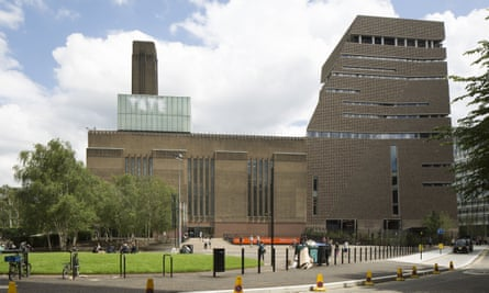 Tate Modern by the River Thames in central London. Visitors to the gallery said they were kept inside as officers dealt with the incident.