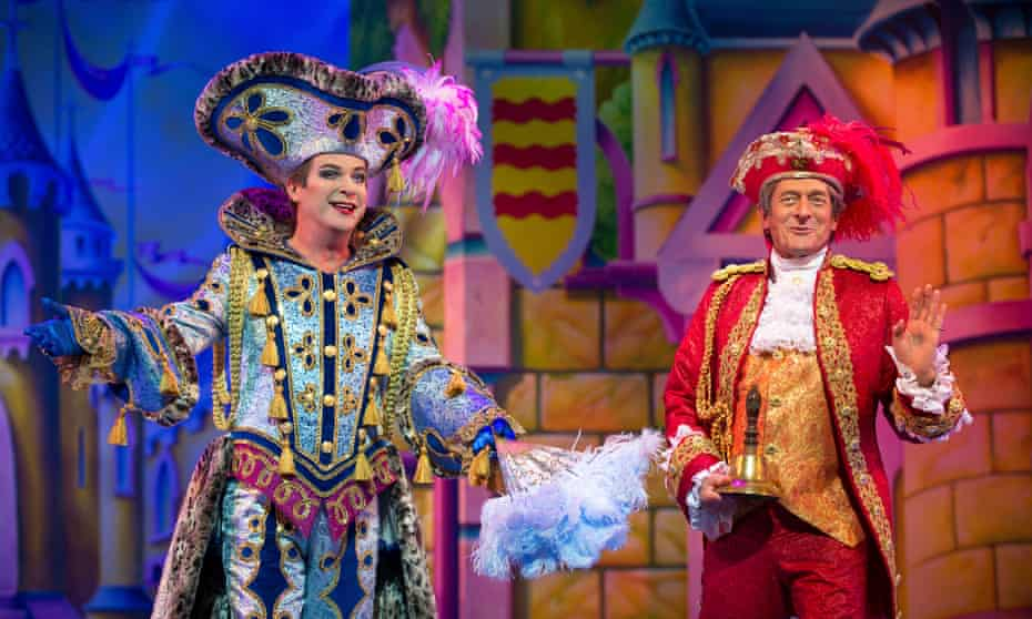 'The filthiest panto I've ever seen' … Julian Clary as Dandini and Nigel Havers as Lord Chamberlain in Cinderella.