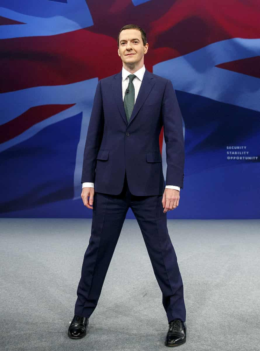 Geroge Osborne and his legs at the 2015 Conservative party conference in Manchester.