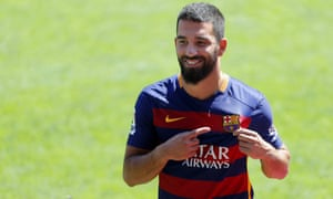 Arda Turan at his Barcelona unveiling